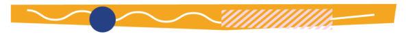 Orange footer divider
