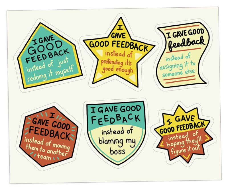 The Bent Good Boss Achievement Stickers Feedback Edition