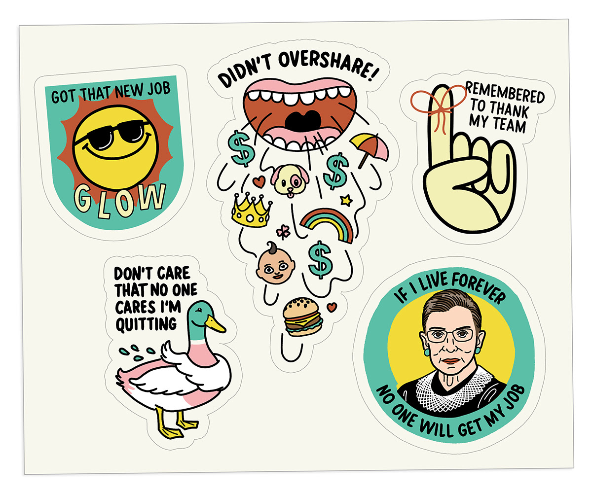The Bent Good Boss Achievement Stickers quitting edition