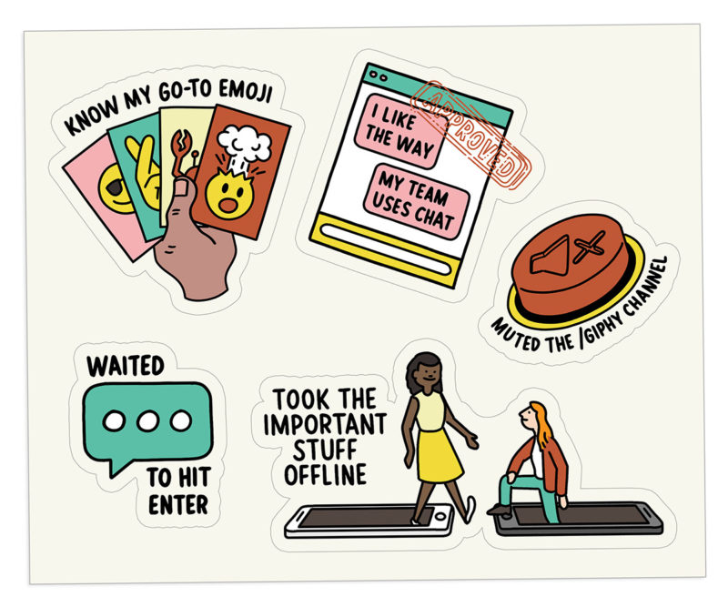 The Bent Good Boss Achievement Stickers Instant Message Edition