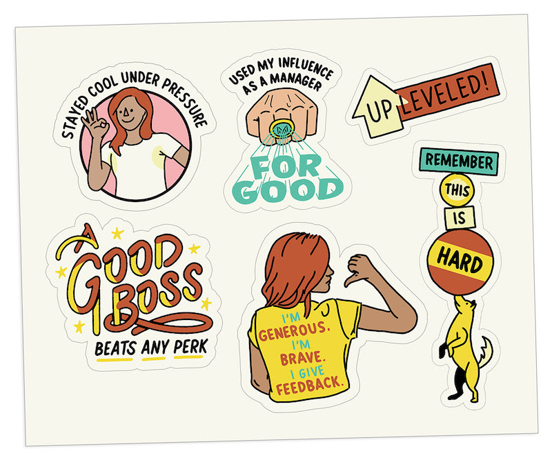 The Bent Good Boss Achievement Stickers Expansion Pack