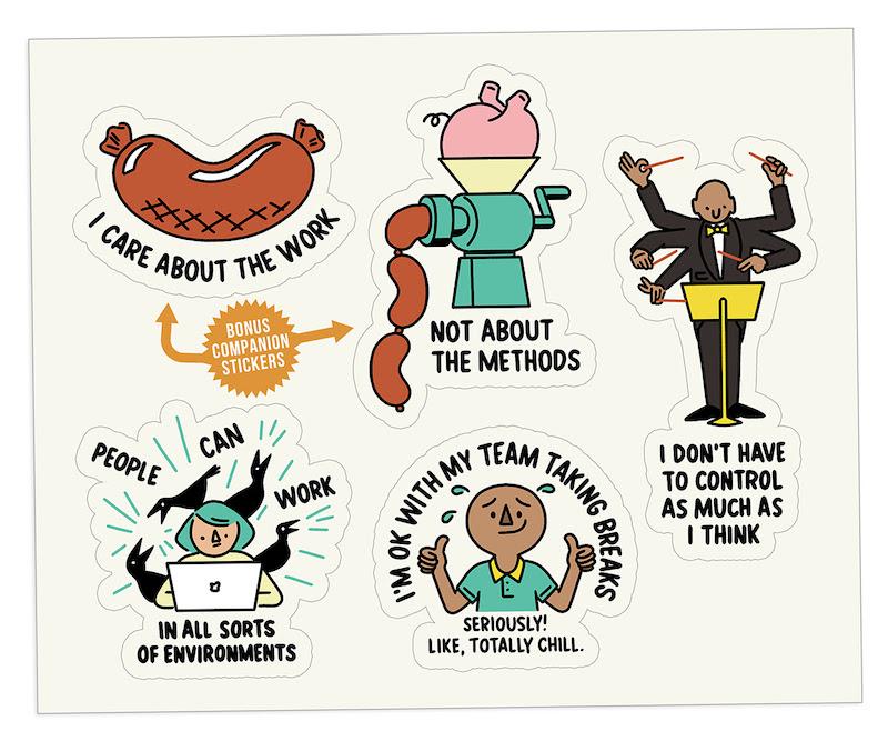 The Bent Good Boss Achievement Stickers Productivity Edition