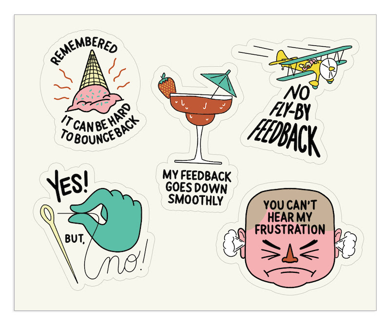 The Bent Good Boss Achievement Stickers YbN Edition