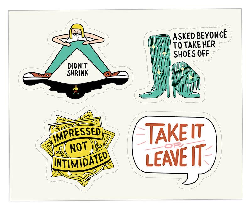 The Bent Good Boss Achievement Stickers Intimidated Interviewer Edition
