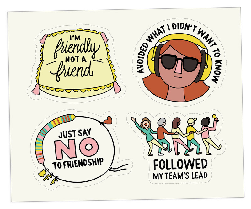 The Bent Good Boss Achievement Stickers BFF Edition