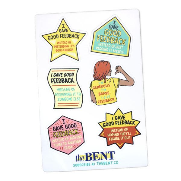 I Give Feedback sticker sheet